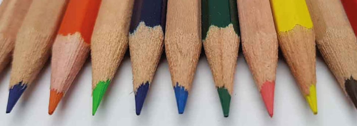 promo pencils with coloured leads