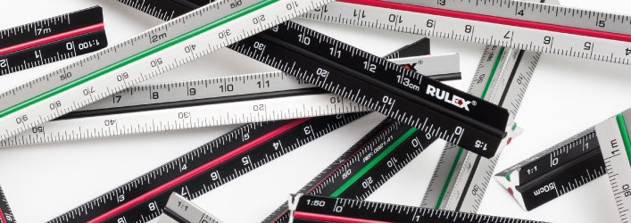 Mini and micro triangle scale rulers 1