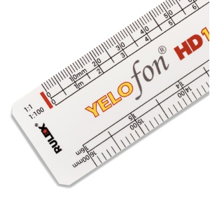 RULEX 300mm oval scale ruler